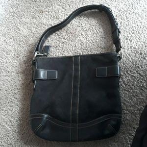 Women's Coach Handbag Black Used Purse